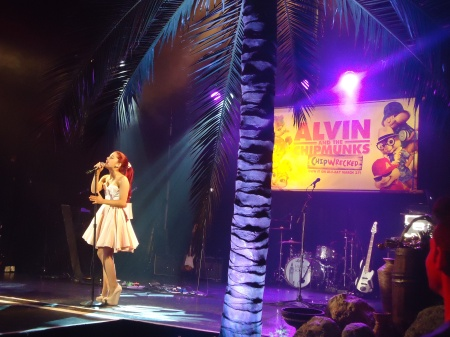 Arianna Grande Performing at the Alvin and the Chipmunks: Shipwrecked party