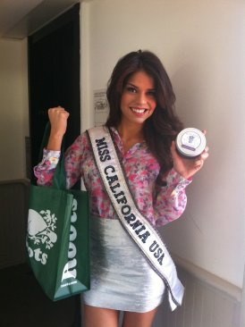 MISS CALIFORNIA USA AT THE WOW GIFT LOUNGE AT THE LUXE HOTEL ON FEBRUARY 18