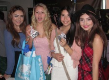 JULIANNA ROSE, LIA MARIE JOHNSON, CHARISMA KAIN AND JENNESSA ROSE AT THE WOW CREATIONS OSCAR LOUNGE