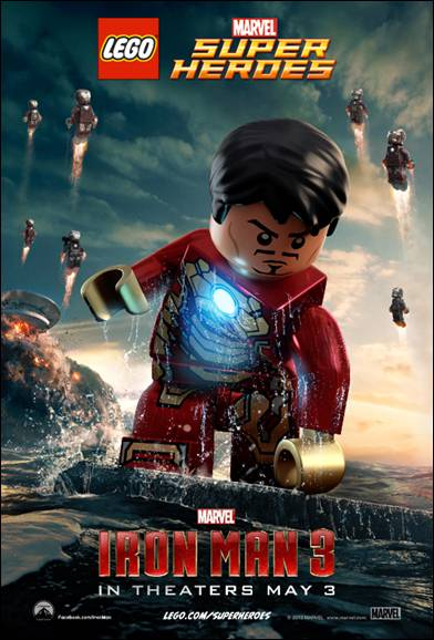 the official theatrical posters in LEGO® form! These iconic characters are exclusive LEGO minifigure replicas found in LEGO Marvel Super Heroes sets based on the much-anticipated film hitting theaters on May 3rd .