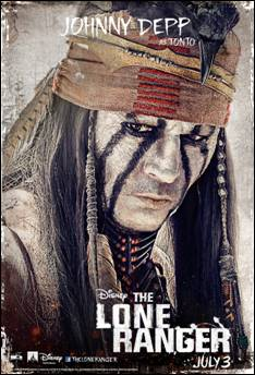 The LONE RANGER opens in theatres July 3, 2013