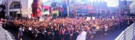 The Vamps impromtu Meet and Greet brings 100's of fans at Universal City Walk, Universal City, CA USA 10/13/13