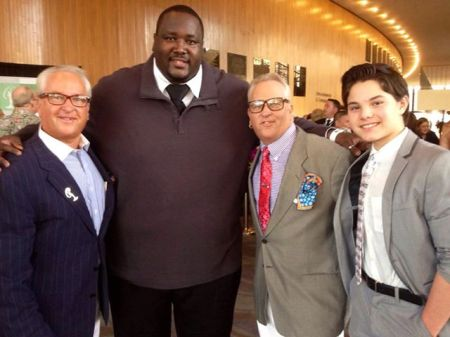 CELEBRITIES MARK AND MATT HARRIS JOIN ACTOR QUINTON AARON AND ACTOR ZACH CALLISON A THE MS CALIFORNIA PAGEANT