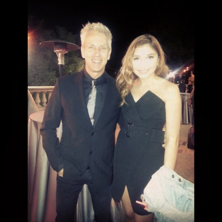 DIRECTOR CHRIS SANDERS AND ACTRESS JENNESSA RISE AT THE 2014 41ST ANNUAL ANNIE AWARDS