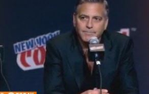 goerge clooney at ny comic con
