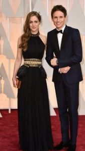 Hannah Bagshawe and Eddie Redmayne AT THE 2015 OSCARS