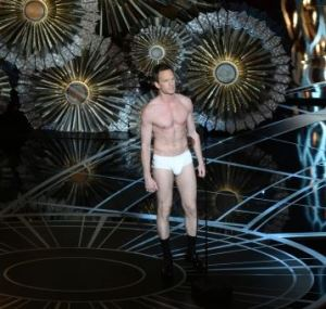 """Neil Patrick Harris in his Underwear at the 2015 Oscars - From the famous and  unforgettable underwear scene in """"Birdman""""."""
