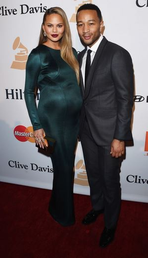 GRAMMY CHRISSY TEIGAN AND JOHN LEGEND AT CLIVE DAVIS'S PRE GRAMMY GALA