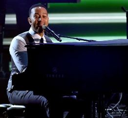john legend does beautiful music at the grammy's