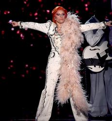 lady gaga with a tribute to david bowie
